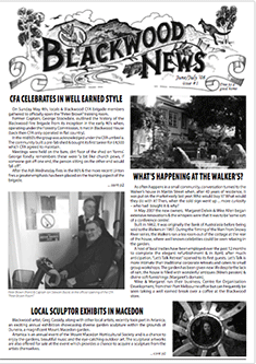 """June July 2008 issue of """"Blackwood News"""""""