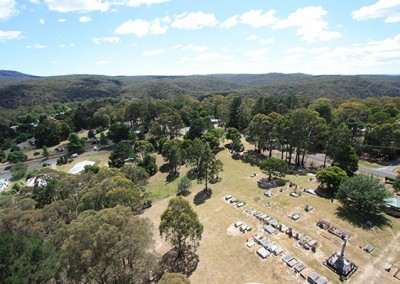Blackwood Cemetery from a great height