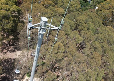 Blackwood Mobile Tower from the top down
