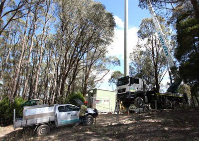 Raising the Blackwood Mobile tower
