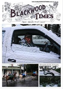 Aug Sept '16 cover of The Blackwood Times