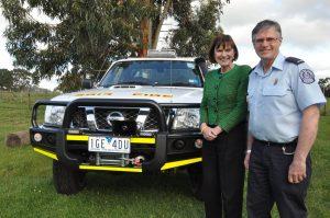 Mary-Anne Thomas MP with Blackwood CFA captain