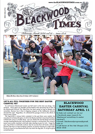 FebMar2020 cover of the Blackwood TImes